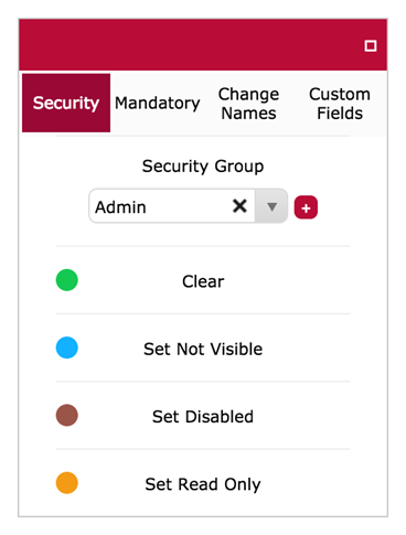 Security Options on God Mode