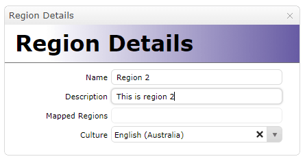 Create a new Region