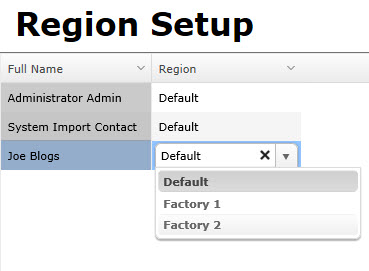 Assigning Users to Regions