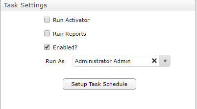 Task Settings