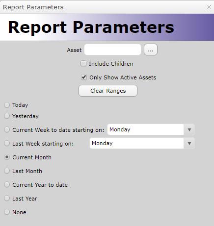 Report Parameters