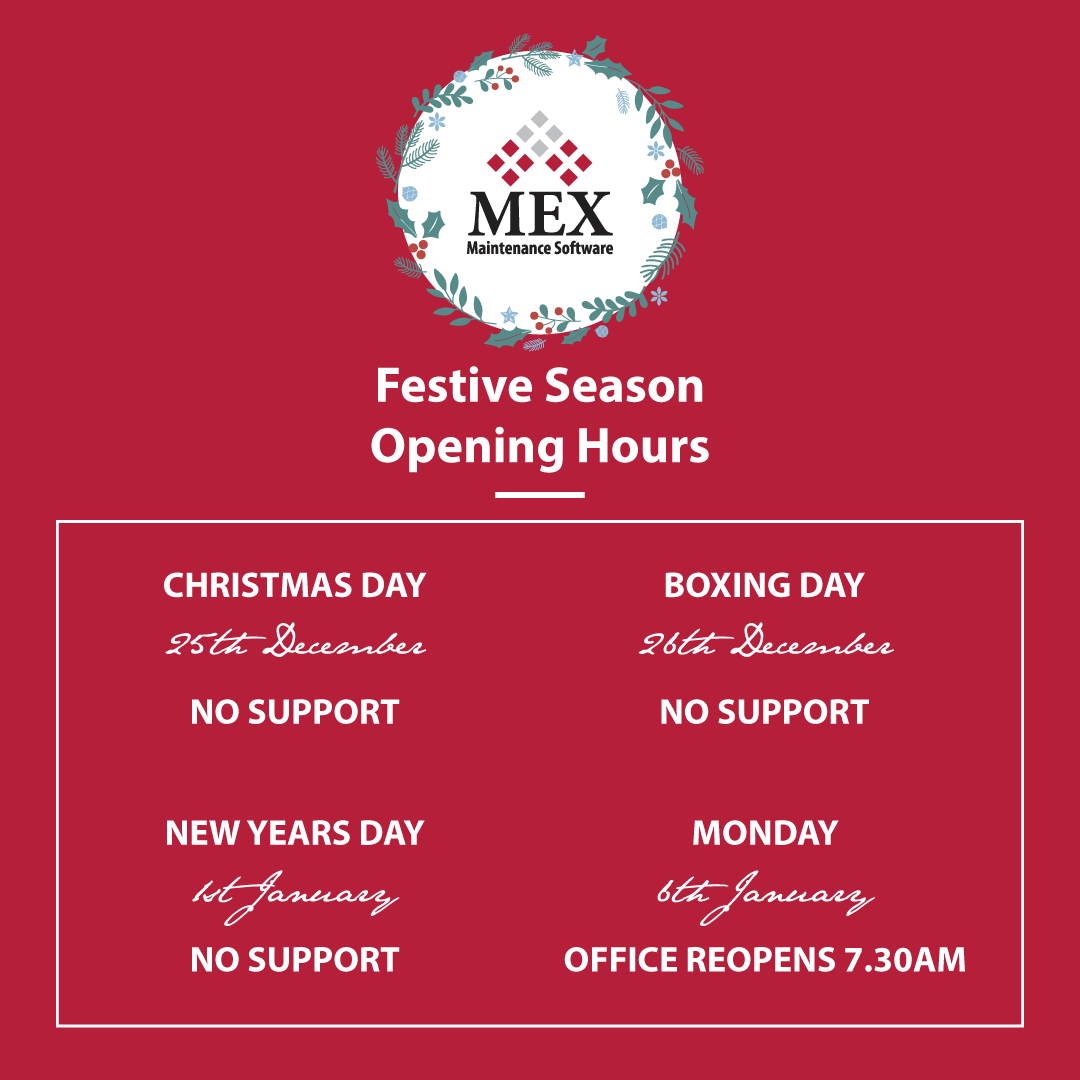 MEX Festive Season Shutdown Period 2019