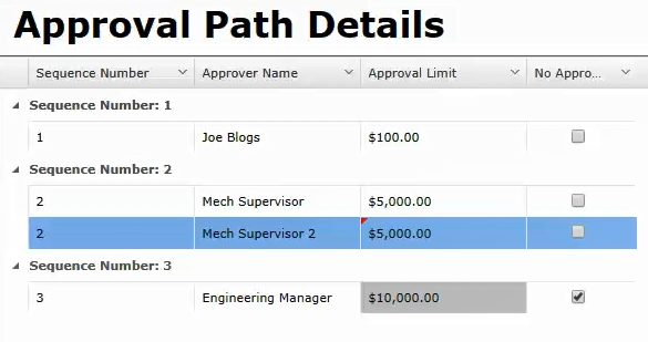 Mechanical Purchases path 2
