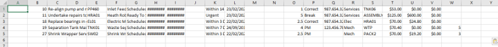 Excel paste example