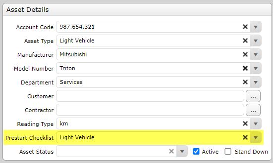 Light Vehicle Asset Details