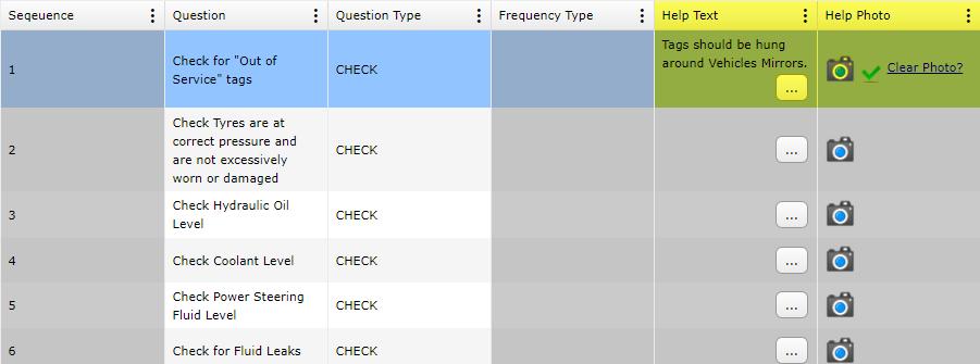 Prestart Answers Help Items