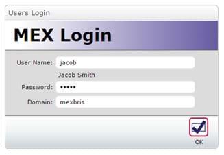 MEX Login form