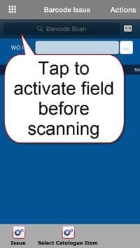 Barcode field on MEX iOS app