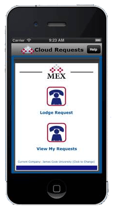 MEX Maintenance Software Cloud Requests Interface