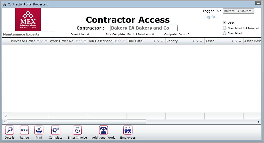 Contractor Portal Access