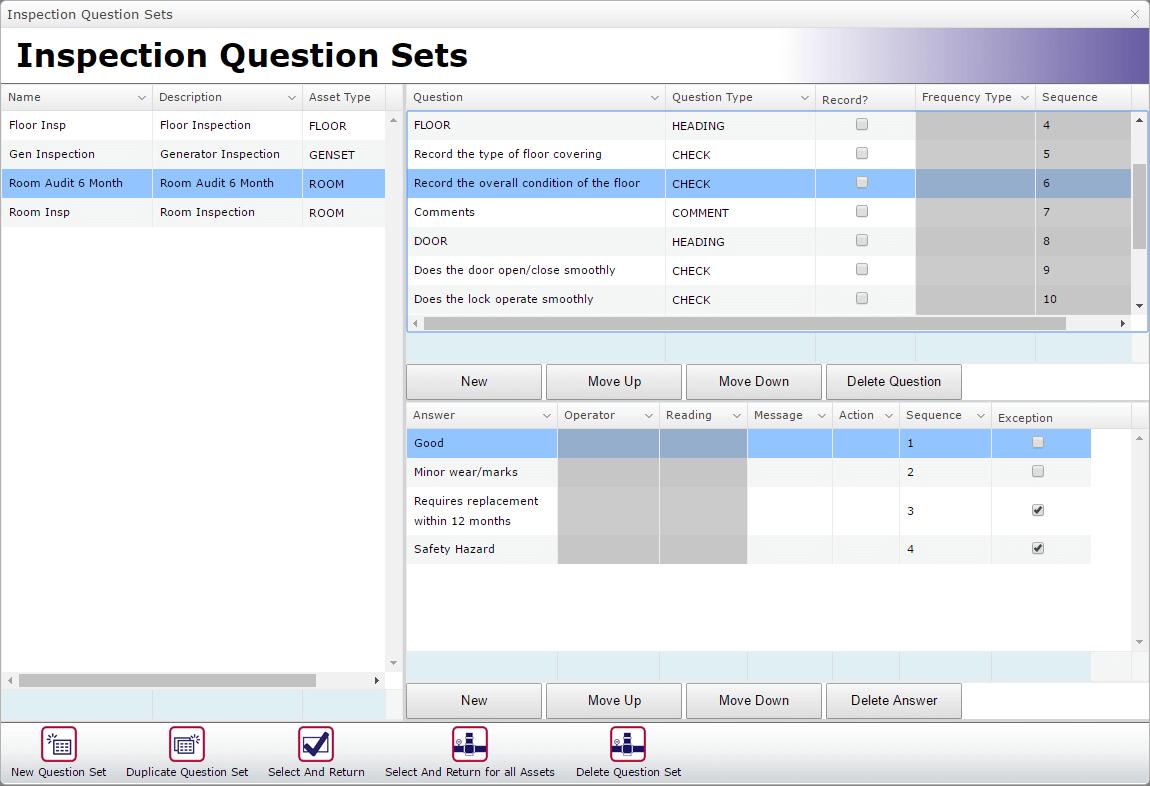 Audit Inspection Question Set
