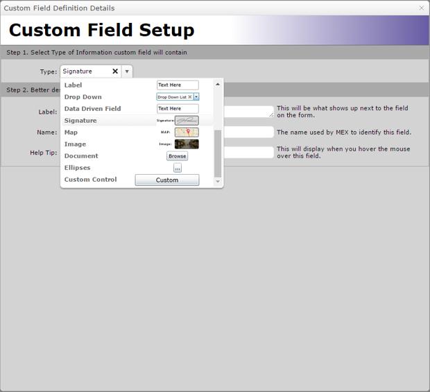 Custom Field Setup