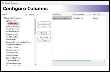 Configure Columns 2