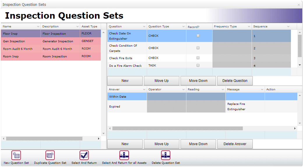 Inspection Questions