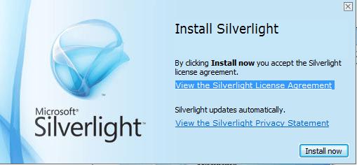 MEX Installing Silverlight 3