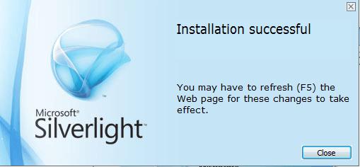 MEX Installing Silverlight 5