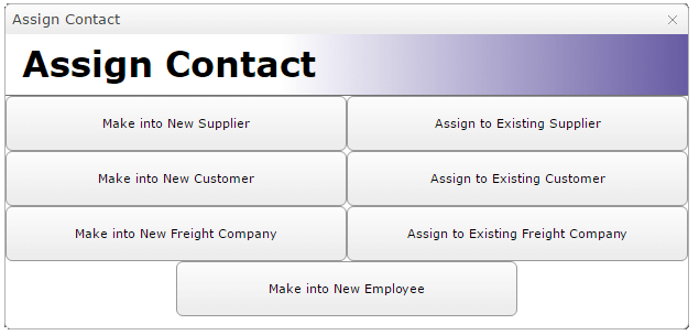 Assign Contact Form in MEX