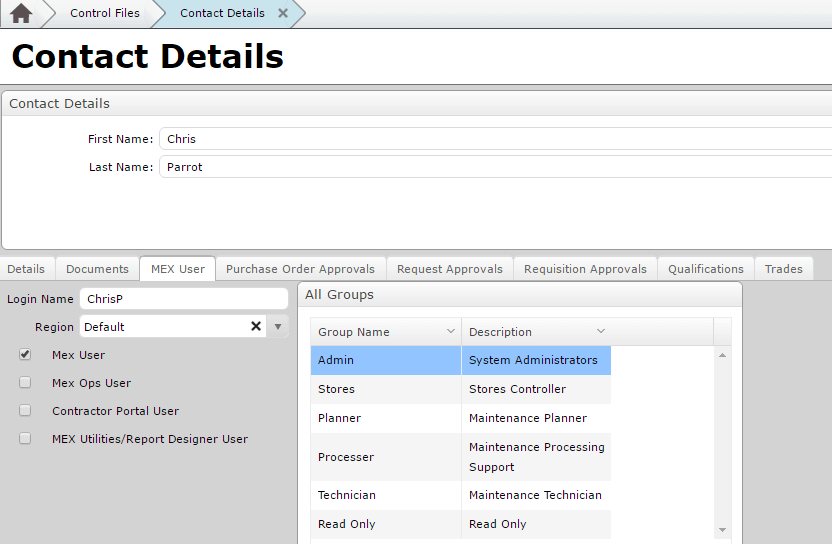 New MEX User from Employee