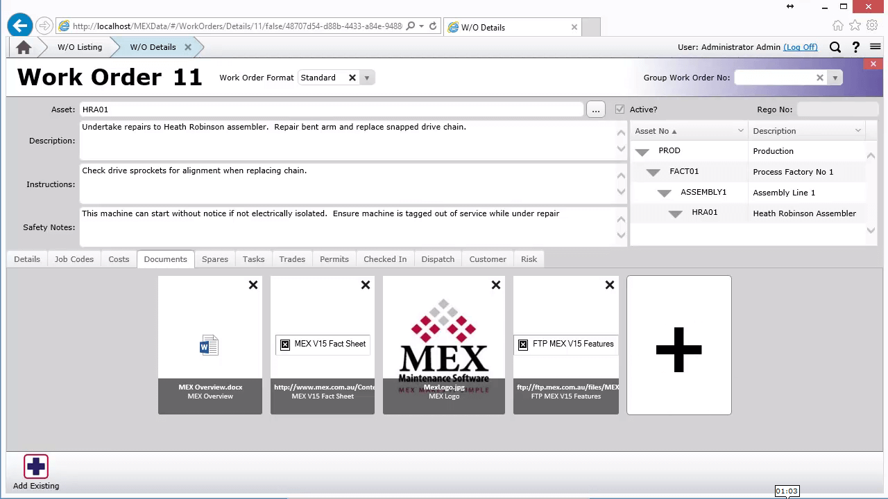 MEX Documents Icon View