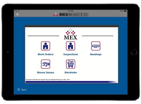 MEX Mobile Main Menu
