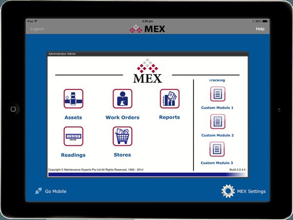MEX iPad Custom Fields