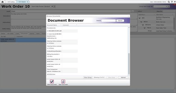 MEX Document Browser