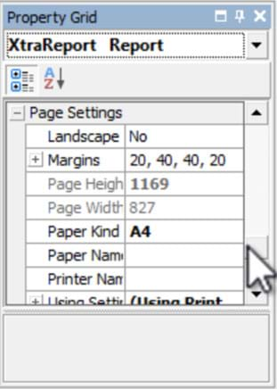 Setting paper kind to A4
