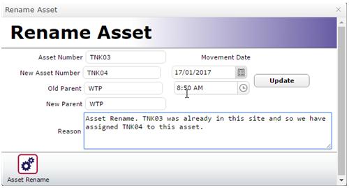Rename Asset Form