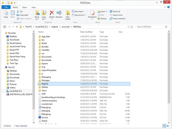 MEX Reports Folder