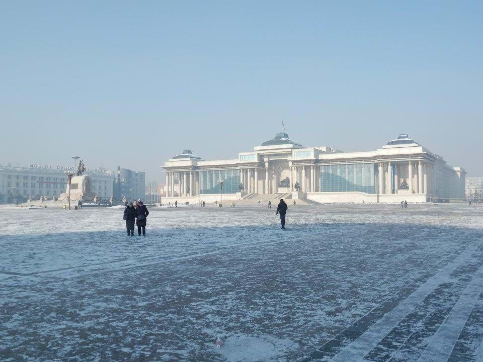 Looking across Suhkbaatar Square