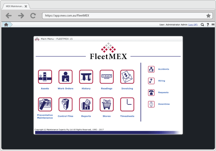 FleetMEX Main Menu Preview